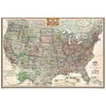 National Geographic USA-Karte Antike USA Karte politisch, groß