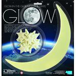 HCM Kinzel Adhesivos de la Luna y estrellas que brillan en la oscuridad Glow Moon and Stars (grande)