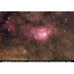M8 Nebulosa da Lagoa, foto tirada com um telescópio fotográfico Omegon e uma lente field flattener de 2