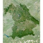 Planet Observer Mapa regional Baviera pelo 'Observador do planeta'
