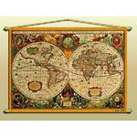 Zoffoli Mapamundi Mapa de diseño de antiguedad (reproducción) núm. 318/2