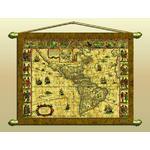 Zoffoli Continentkaart Antieke kaart (replica) nr. 329/2