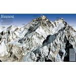 National Geographic Mappa Regionale Monte Everest, 50esimo anniversario - fronte/retro