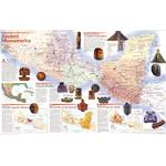 National Geographic Landkarte Mittelamerika der Inkas & Azteken - 2-seitig