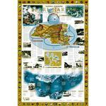 National Geographic Mapa Pearl Harbor / Drama no Pacífico - 2 lados