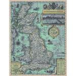 National Geographic Mapa Gran Bretaña durante la época de Shakespeare