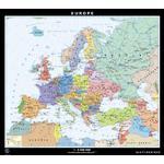 Klett-Perthes Verlag Continent map Europe politisch / stumm (ABW) 2-sided