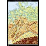 Klett-Perthes Verlag Mapa Alemanha formas de relevo / formas da paisagem (ABW) 2 lados