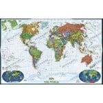 National Geographic Decoratieve wereldkaart, groot, politiek (Engels)