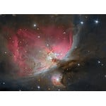 La grande nebulosa di Orione, ripresa con il telescopio Advanced 150/7 Omegon 50mm e una fotocamera Atik 414EK. Foto: Carlos Malagon.