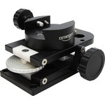 The guide scope mounting can be adjusted laterally and vertically, letting you easily locate a suitable guide star.