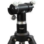 Esta montura es compatible con cualquier telescopio que tenga un riel en prisma tipo GP. Su brazo doble permite el montaje de dos telescopios simultáneamente.
