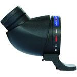 Lens2scope , 7mm, voor Nikon F, zwart, gehoekte inkijk