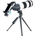 Esempio di utilizzo, con un Lens2scope 7 mm wide (non incluso nella consegna)
