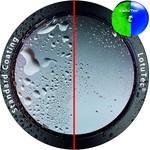 LotuTec-Beschichtung lässt Wasser abperlen und Schmutz löst sich leichter.