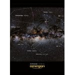 Detailed section of the poster: The constellations are shown on one side of the poster complete with constellation lines and descriptions. The other side shows the constellations only.