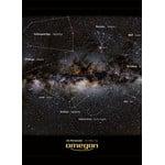 Secventa detaliata a posterului: Constelatiile sunt infatisate pe o parte a posterului prin imaginea constelatiei si denumirea acesteia. Pe verso este mentionata doar denumirile acestora.