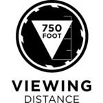 La portata massima di riconoscimento è di circa 230 metri