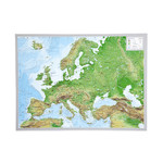 Georelief Europa klein, 3D Reliefkarte