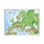 Georelief L'Europe petit format, carte géographique en relief 3D