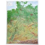 Georelief Deutschland groß, 3D Reliefkarte