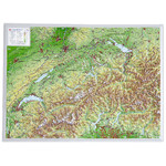 Georelief 3D relief map of Switzerland, small (in German)