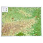 Georelief Landkarte Österreich groß, 3D Reliefkarte