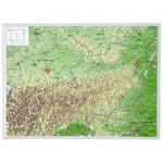 Georelief L'Autriche petit format, carte géographique en relief 3D