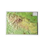 Georelief Regional-Karte Harz klein, 3D Reliefkarte