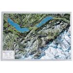 Georelief Harta magnetica Map of the Bernese Oberland (in German)