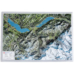 Georelief Map of the Bernese Oberland (in German)