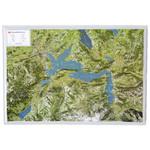 Georelief Regional-Karte Vierwaldstättersee
