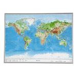 Georelief Welt groß, 3D Reliefkarte