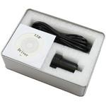 Camera Proteus sed livreaza cu o cutie metalica stabila cu cablu USB, cu cablu ST-4 si software cu driver potrivit.