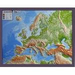 Carte des continents GEO-Institut Reliefkarte Europa Silver line physisch