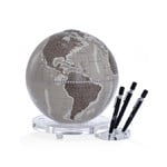 Zoffoli desk globe Balance warm grey with pen holder