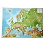 Georelief Carte relief 3D géographique de l'Europe, grand format, ANGLAIS