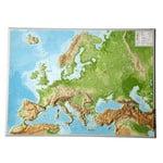 Georelief European relief map, large, 3D