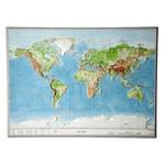 Georelief Carte relief 3D géographique du Monde, grand format
