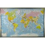 geo-institut GEO Institute Silver Line wereldkaart reliëf, politiek (Engels)