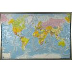 geo-institut , plastyczna mapa Świata, Silver Line, polityczna, język angielski