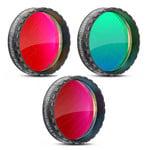 "Baader Kit filtru H-alpha, OIII, SII , luminos, f/2, 1,25"""