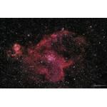 Mgławica Serce, IC 1805, pomiędzy gwiazdozbiorami Kasjopei, Perseusza i Żyrafy. W środku mgławicy emisyjnej leży gromada otwarta, która pobudza mgławicę do świecenia. Zdjęcie: Sebastian Voltmer.