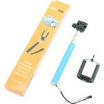 Aluminium-Einbeinstativ Selfie-Stick für Smartphones und kompakte Fotokameras, blau