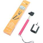 Monopied en aluminium Selfie-Stick für Smartphones und kompakte Fotokameras, pink