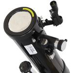 Voici comment le filtre solaire Omegon est monté sur ll'objectif.  Maintenant, tout est prêt pour l'observation du soleil.