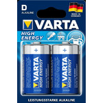 "Varta Mono (D) ""High Energy"" batterijen, set van 2"