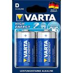 """Varta Pilas mono (D) """"High Energy"""", paquete de 2 unidades"""