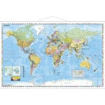 Stiefel Mapa mundial Political map of the world, with metal strip (in German)