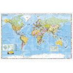 Stiefel Mapa Świata, polityczna, z metalowymi listwami, język angielski